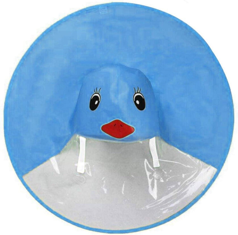 Gelb Kreative Cartoon Ente Regen Hut Faltbare Kinder Regenmantel Regenschirm Cape Cute Regen Mantel Umhang Universal f/ür Jungen M/ädchen