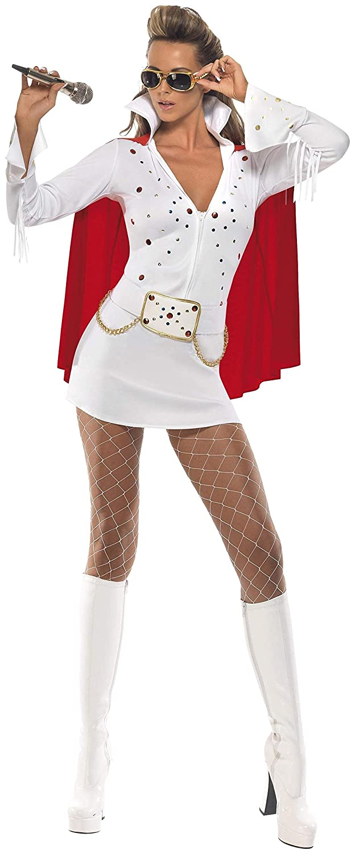 Smiffys - Disfraz de Elvis para Mujer, Talla UK 8 - 10 (33252S ...
