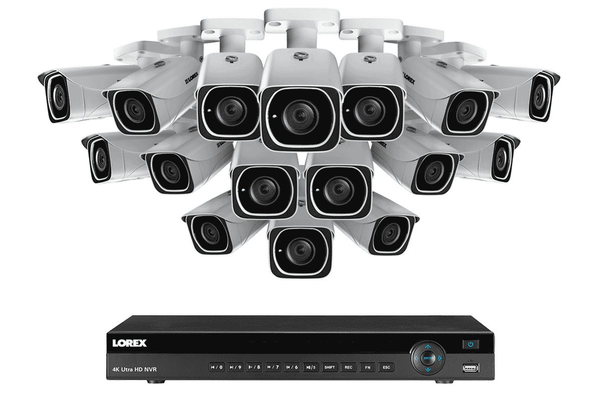 4K Ultra HD IP NVR System with 16 Outdoor 4K 8MP IP Cameras, 130FT Night Vision by Lorex