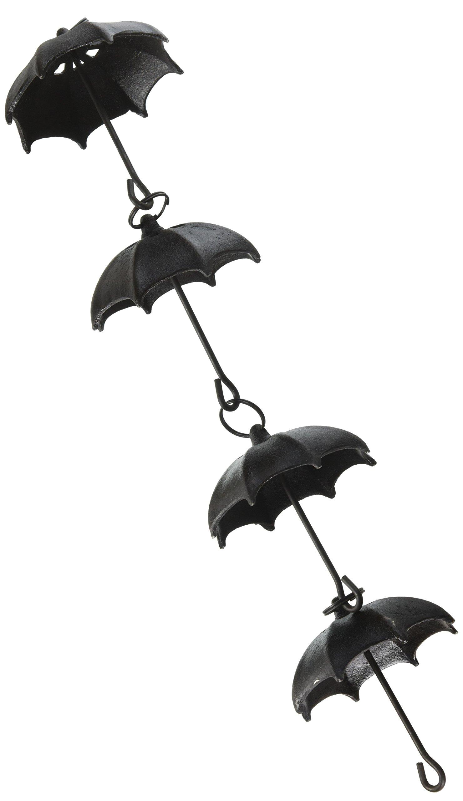 NACH js-RNC007 Umbrella Cast Iron Rain Chain, 96''