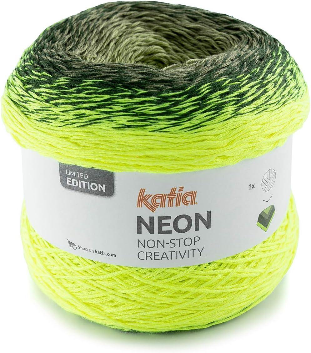 Artículo de Regalo Sibylles 200 g Katia Neon Non Stop Creativity – Color 502 Amarillo/Verde – Una Mezcla de algodón y acrílico con un Degradado Suave y Moderno.: Amazon.es: Hogar