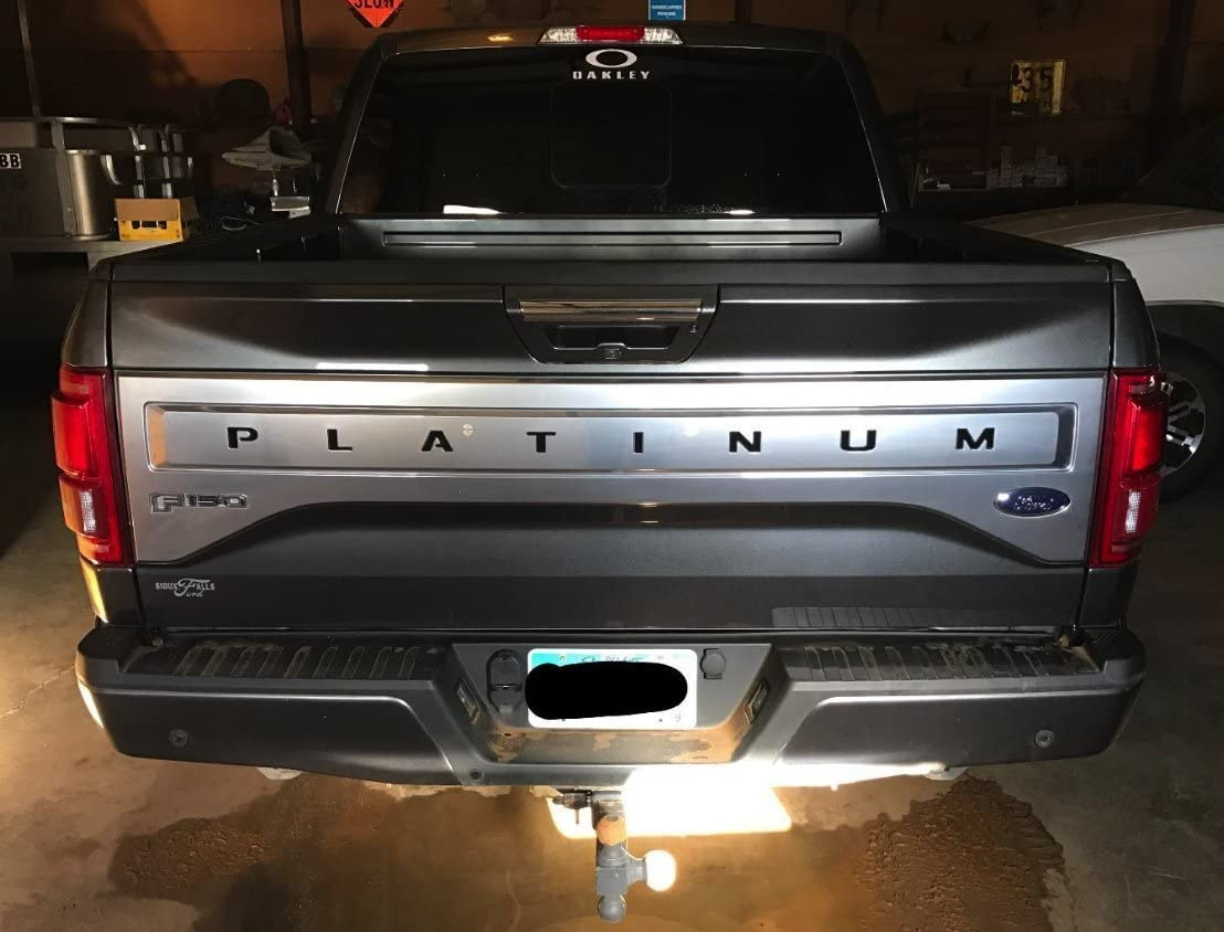 BDTrims Tailgate Raised Letters and Stripes Compatible with 2017-2020 Platinum F-250//350//450//550 Models Black