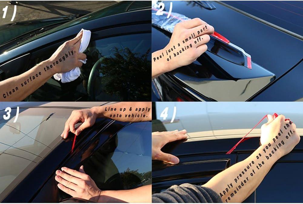 Window Visors Compatible With 2014-2017 Mazda 3 Smoked Aero JDM Deflectors Stick On Sun Rain Wind Window Guards by IKON MOTORSPORTS 2015 2016