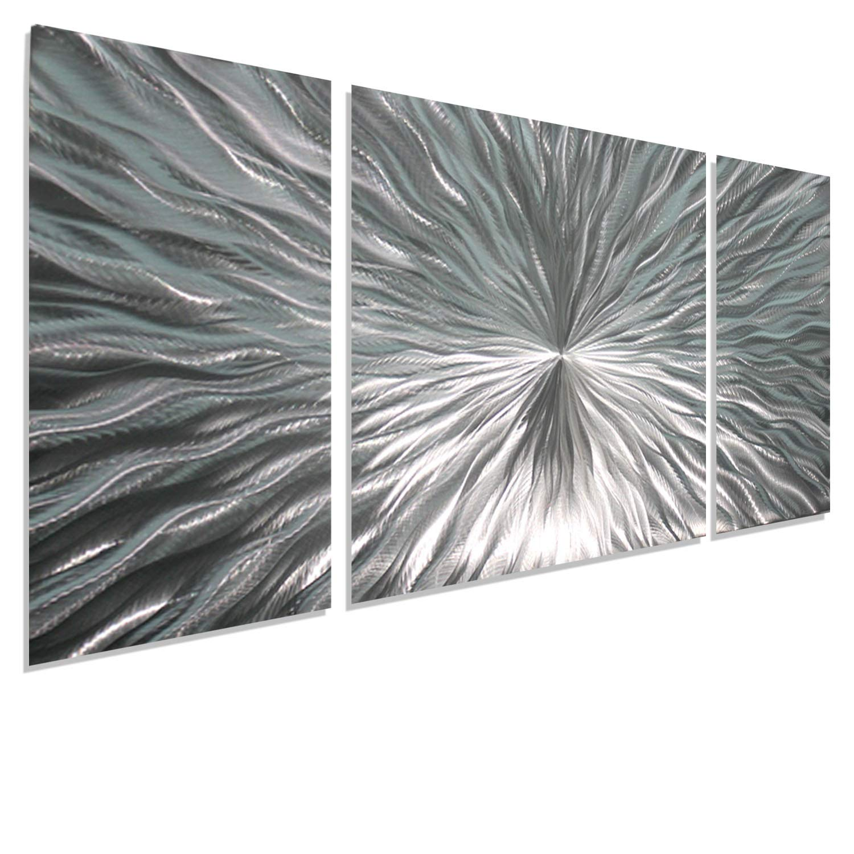Jon Allen Wall Art Part - 20: Statements2000 Silver Metal Wall Art by Jon Allen - Modern Abstract Metal  Panel Wall Art - Home Decor, Home Accent, Contemporary Metallic Wall  Sculpture, ...