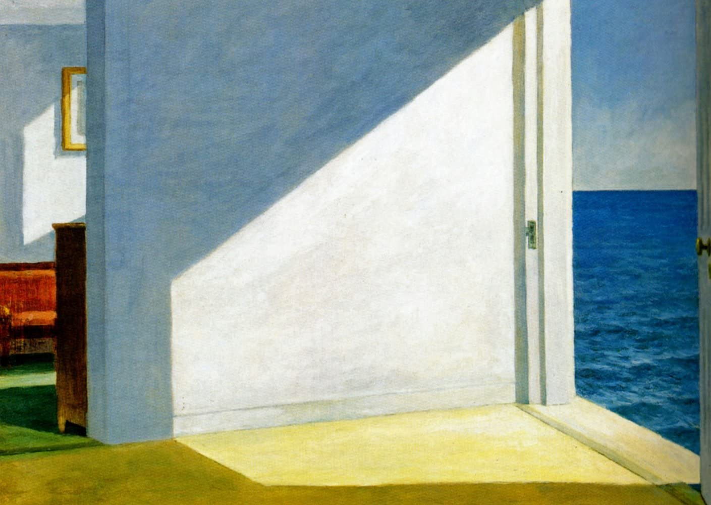 Edward Hopper - Rooms by The Sea, Size 24x36 inch, Poster Art Print Wall décor