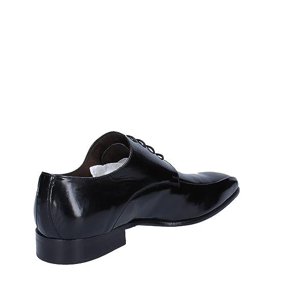 CARIERI & CARIERI Elegante Hombre Negro Cuero (39 EU) zvO91Q7L
