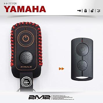 amazon 2m2 適用 2017 yamaha x max xmax 手作り本革キーケース