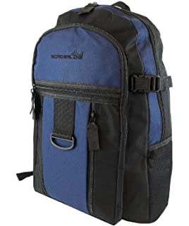 0fda76dbcf Mens Boys Backpack Rucksack Sports Work Gym School Travel Hiking Man Bag  Pockets (Black/