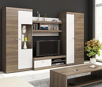 Homedirectltd Linda Modern Living Room Furniture Set Wall Unit