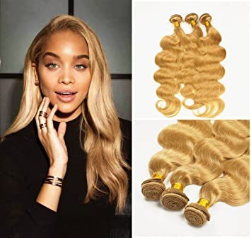Stella Reina Color 27 Copper Honey Blonde Brazilian Hair Body Wave Human Hair Sew In Weaves 3