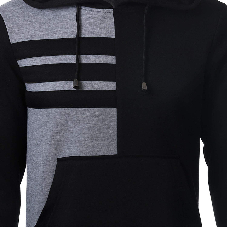 Sex-shop-Vibrators Hoodies MenStriped Hooded Sweatshirt Casual Hip Hop Sudaderas para Hombre at Amazon Womens Clothing store: