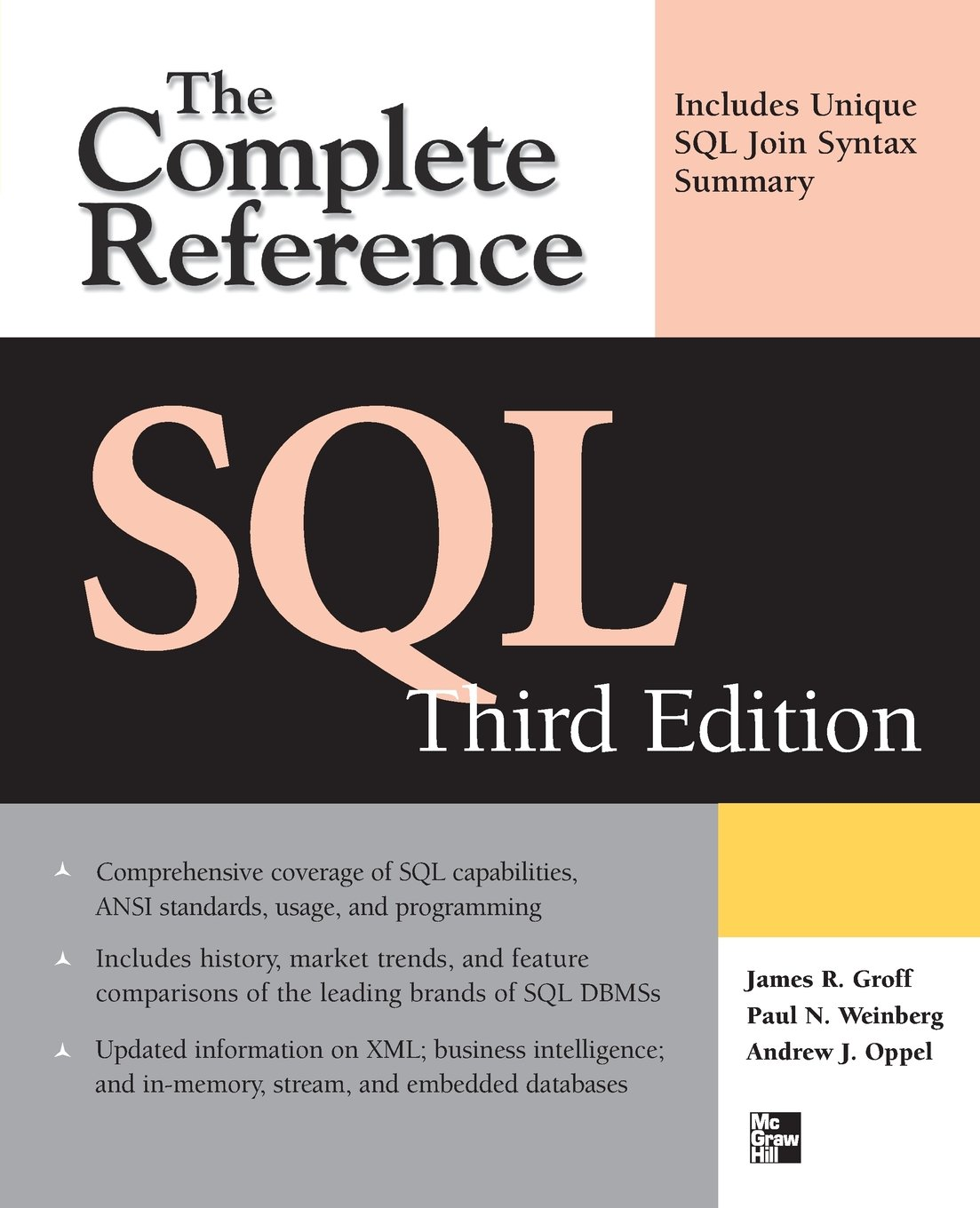 SQL The Complete Reference, 3rd Edition ISBN-13 9780071592550