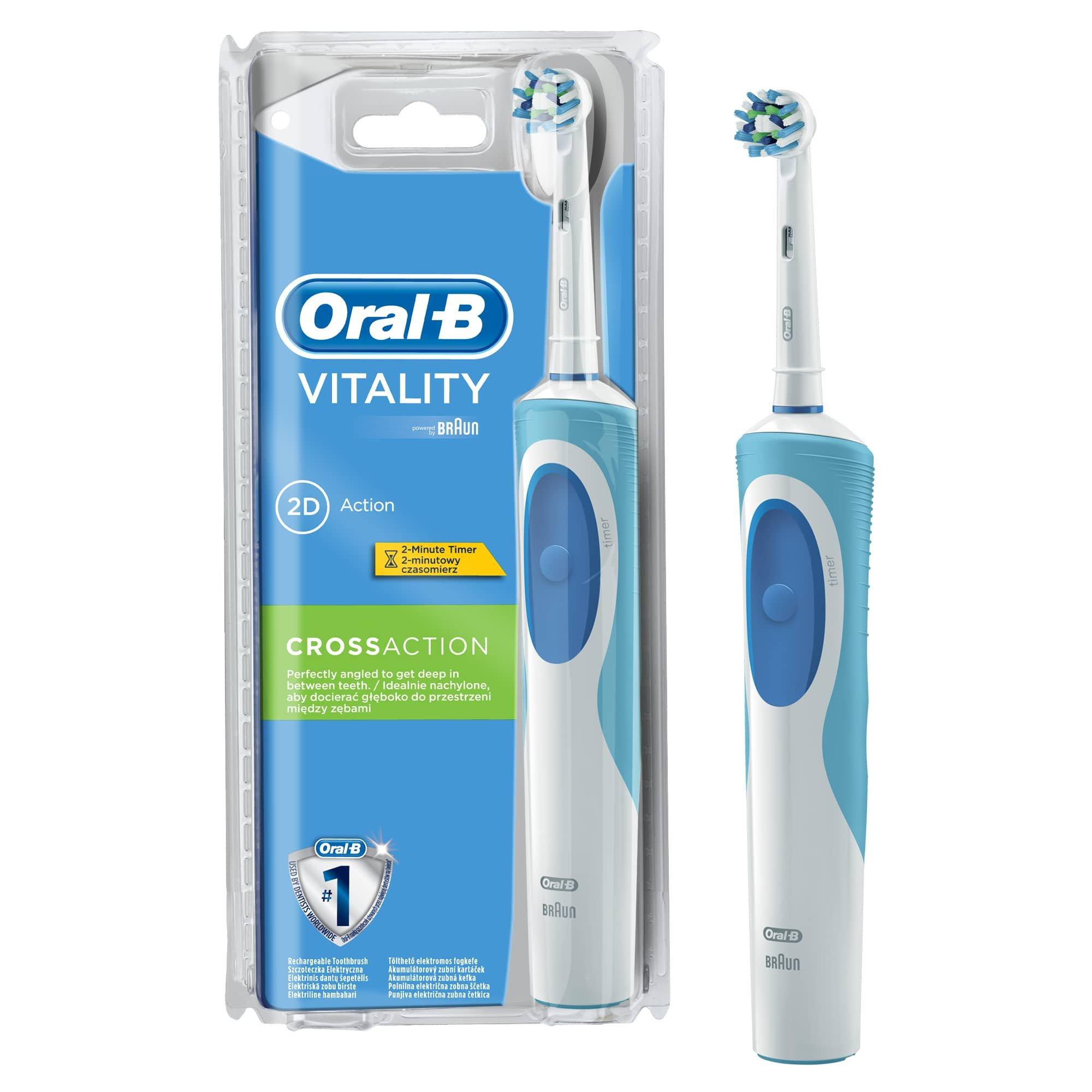 Oral-B Vitality CrossAction - Brosse à Dents Électrique Rechargeable - Minuteur Intégré CrossAction product image