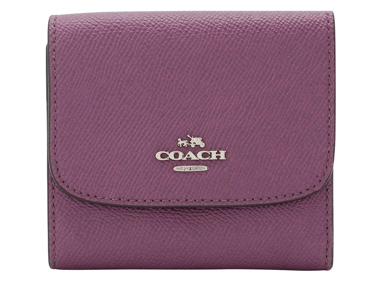(コーチ) COACH 財布 三つ折り ミニ コンパクト レザー アウトレット [並行輸入品] B075D6VZBJ モーブ モーブ