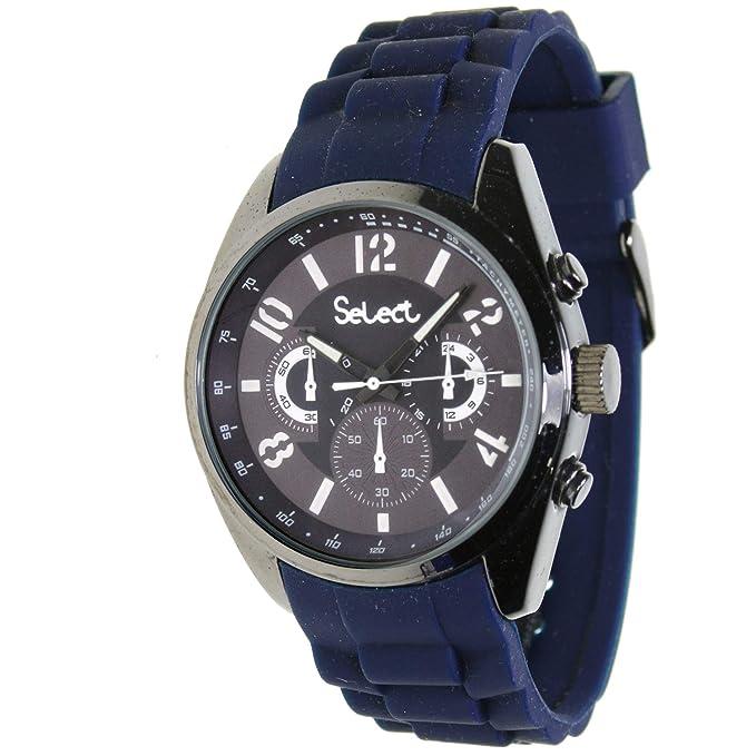 Select Te-10 Reloj Analogico para Hombre Caja De Metal Esfera Color Azul: Amazon.es: Relojes