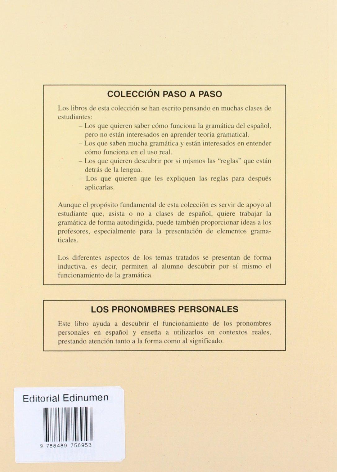 Pronombres Personales, Los (Spanish Edition): Maria Luisa Coronado Gonzalez: 9788489756953: Amazon.com: Books