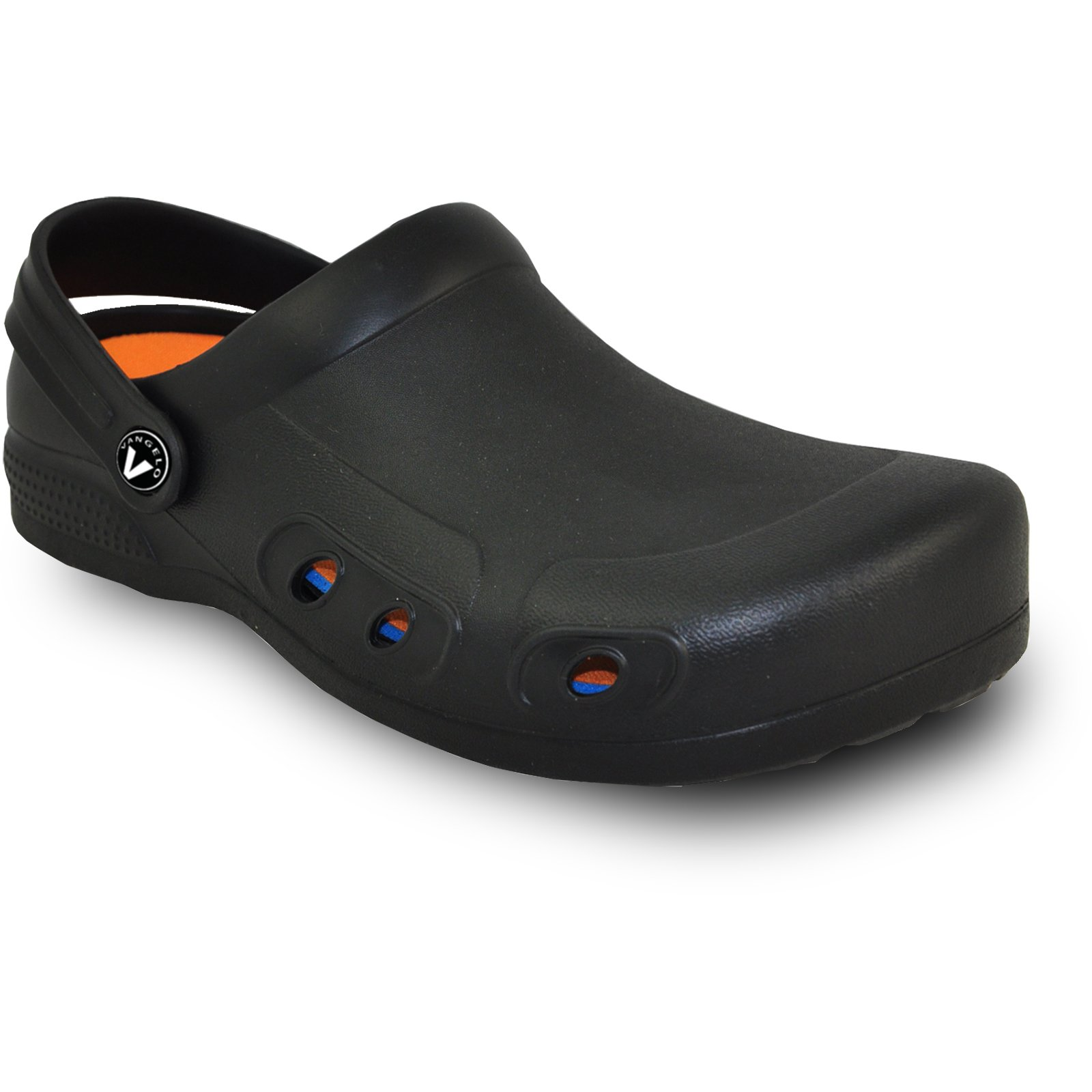 VANGELO Professional Slip Resistant Clog Unisex Work Shoe Ritz Black by VANGELO