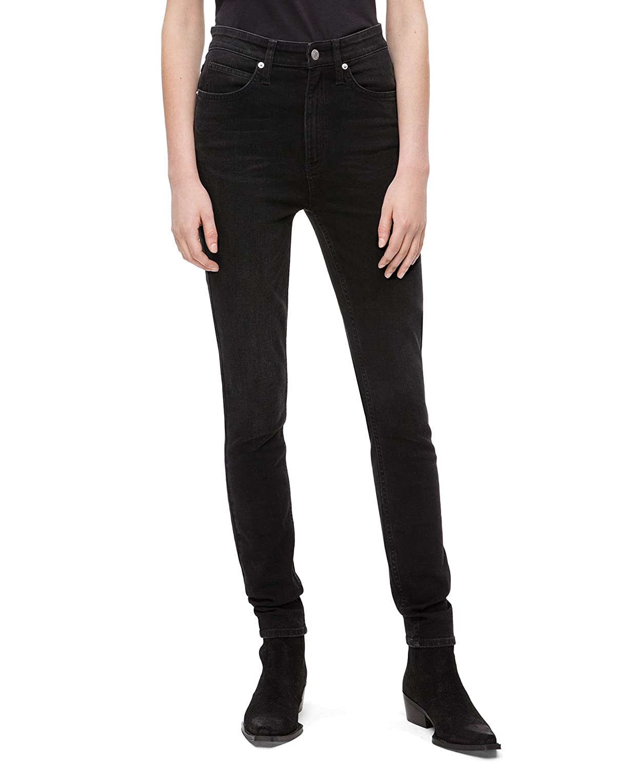 4ee33bb1bf5cf1 Calvin Klein Women's High Rise Skinny Fit Jeans at Amazon Women's Jeans  store