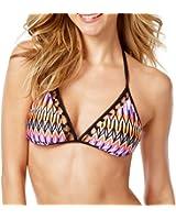 Kenneth Cole Women's Printed Triangle Bikini Top Swimsuit