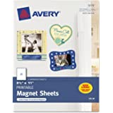 "Avery Personal Creations Printable Magnetic Sheet - Letter - 8.50"" x 11"" - Matte - 5 / Pack - White"