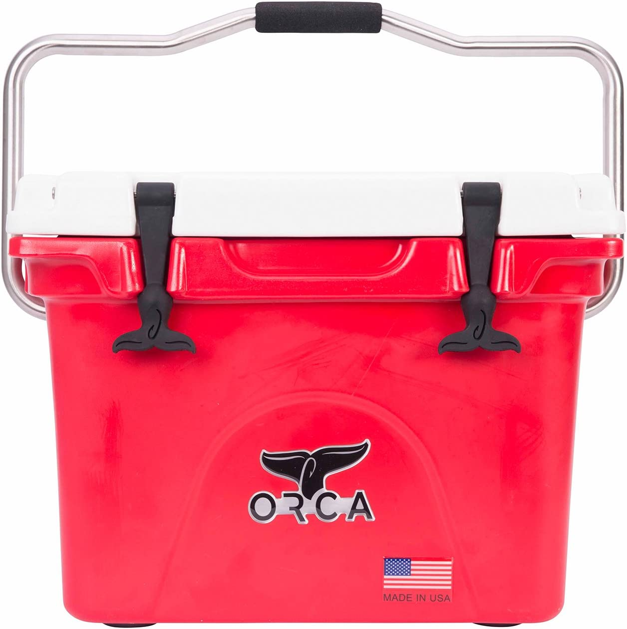 ORCA 20 QT SOLID RED COOLER WITH LIFETIME WARRANTY