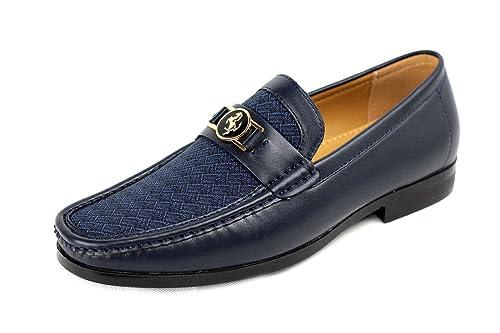 CABALLEROS Zapatos Casual Sin Cordones Diseñador Mocasines Inteligente Boda Trabajo Oficina: Amazon.es: Zapatos y complementos