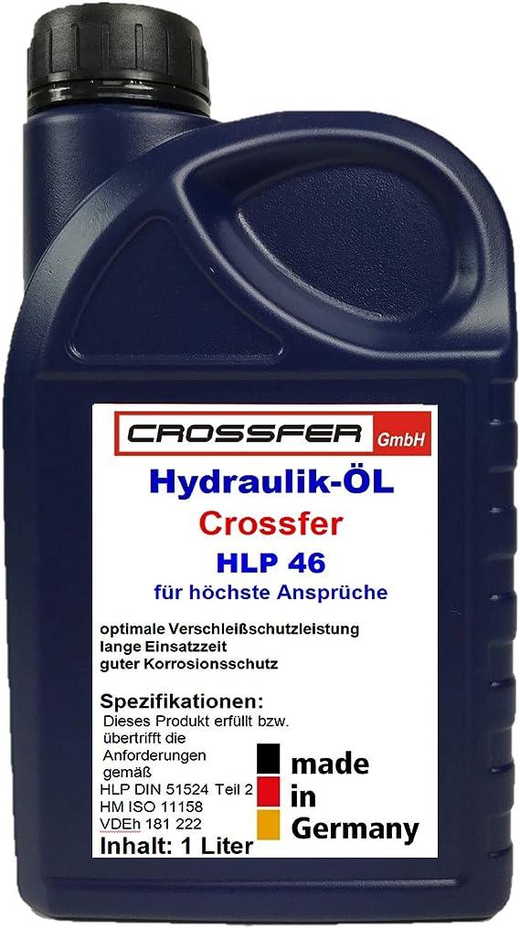 Crossfer 1 Liter Kanister Hlp46 Hydrauliköl Für Hydraulikpressen Holzspalter Wagenheber Hydraulikflüssigkeit Mit 46er Viskosität Auto