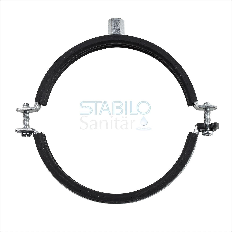 Stabilo-Sanitaer 10x Rohrschelle DN 159 160 162 164 mm DN150 Stahl verzinkt Rohrhalter Rohrbefestigung Rohrhalterung Schraubrohrschelle