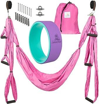 Amazon.com : Summerease Yoga Swing/Hammock and Yoga Wheel ...