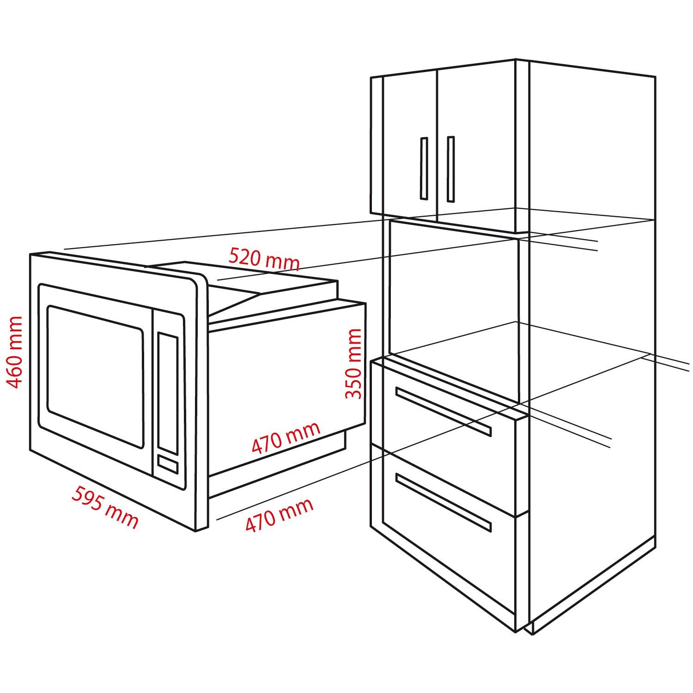 Bomann MWG 2216 H EB Einbau Mikrowelle mit Grill und Heißluft 25