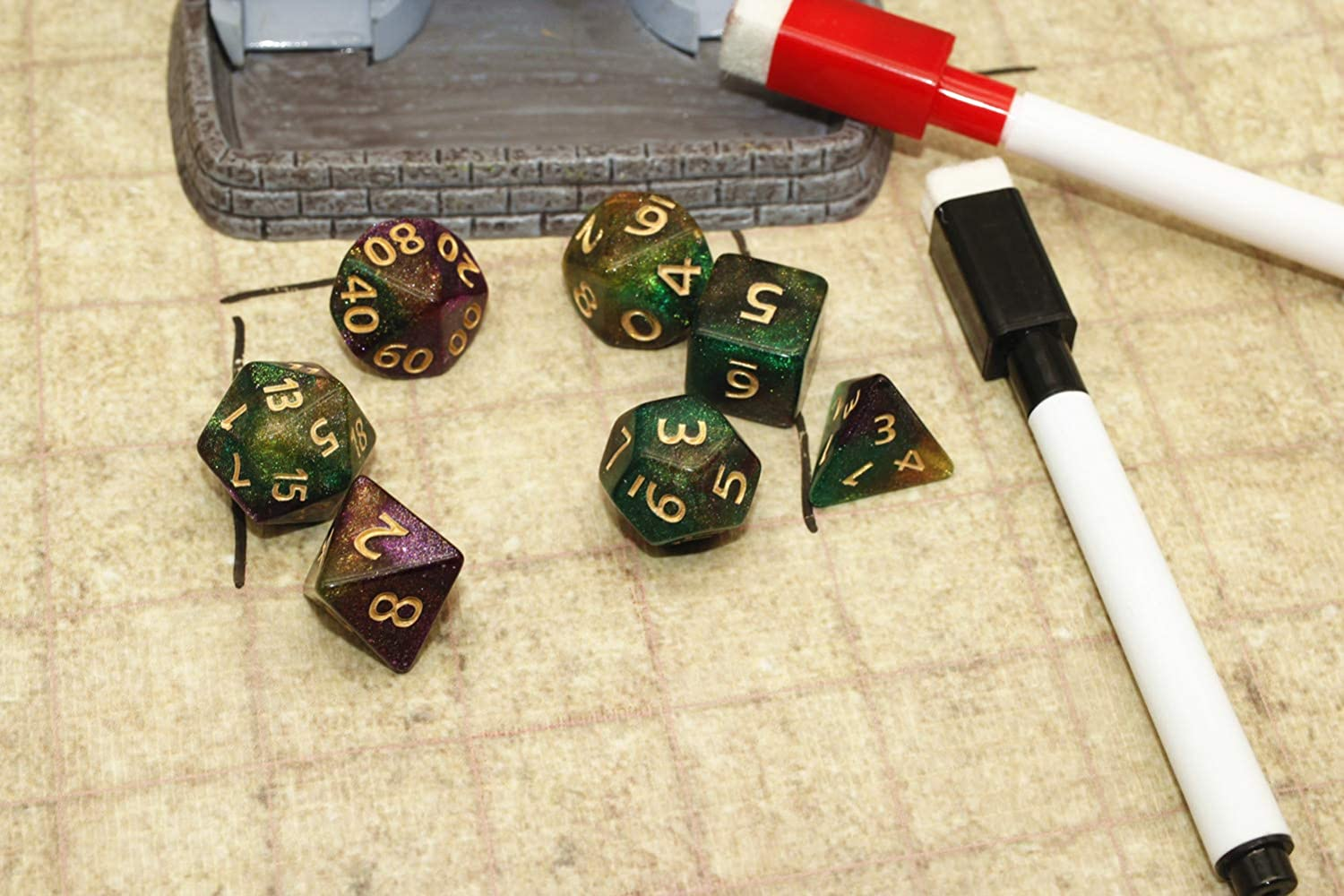 Red /& Blue HD Dice DND RPG Polyhedral Dice Set Fit Dungeons and Dragons D/&D Pathfinder Role Playing Games