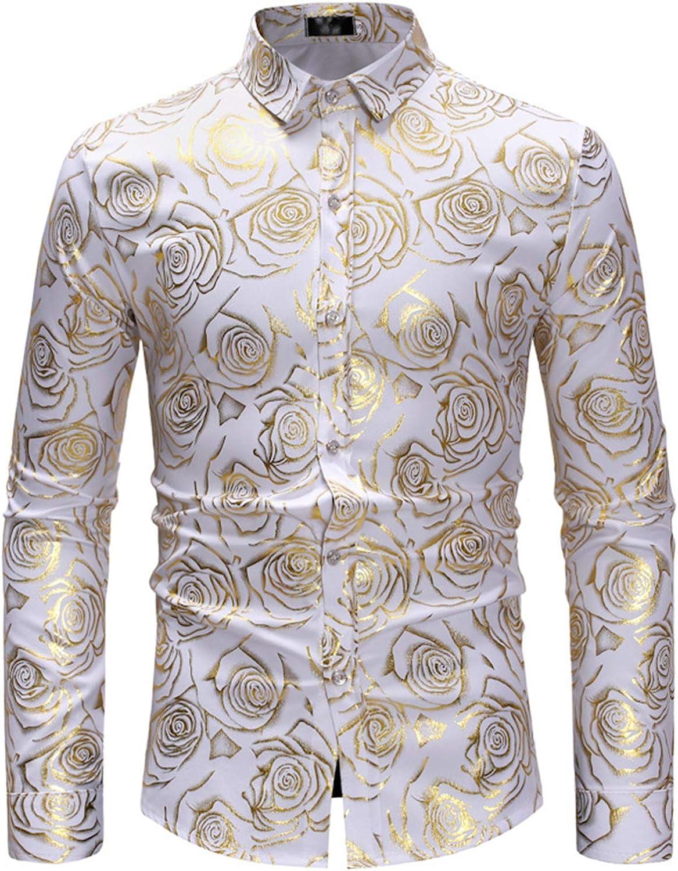 Mr.BaoLong&Miss.GO Camisas Estampadas De Moda para Hombres ...