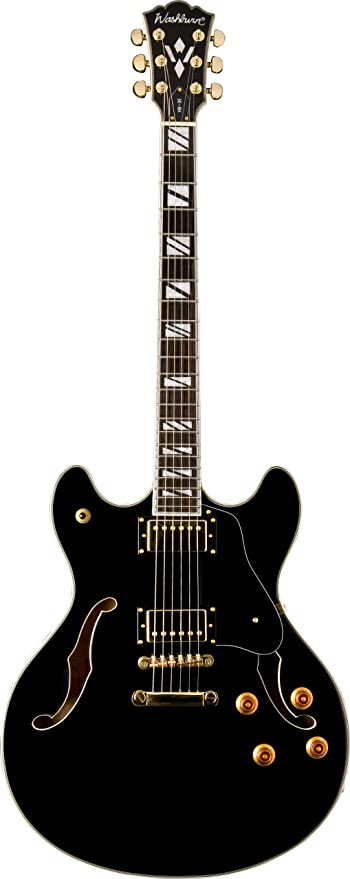 Amazon.com: Washburn HB Series HB35TSK Hollow-Body Electric Guitar, Tobacco SunBurst: Musical Instruments