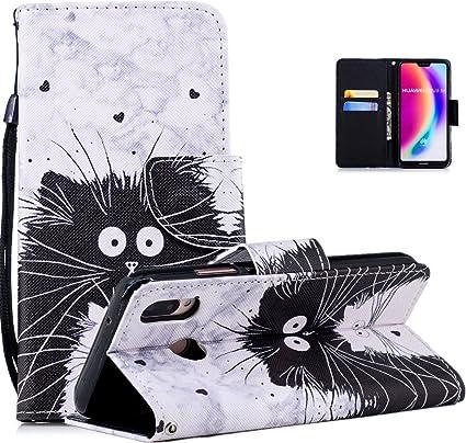 Vectady Cover per Huawei P20 Lite [NO per P20], Custodia Case Pelle Porta Carte Magnetica Flip Cover Custodia Portafoglio Libro Antiurto Protettiva ...