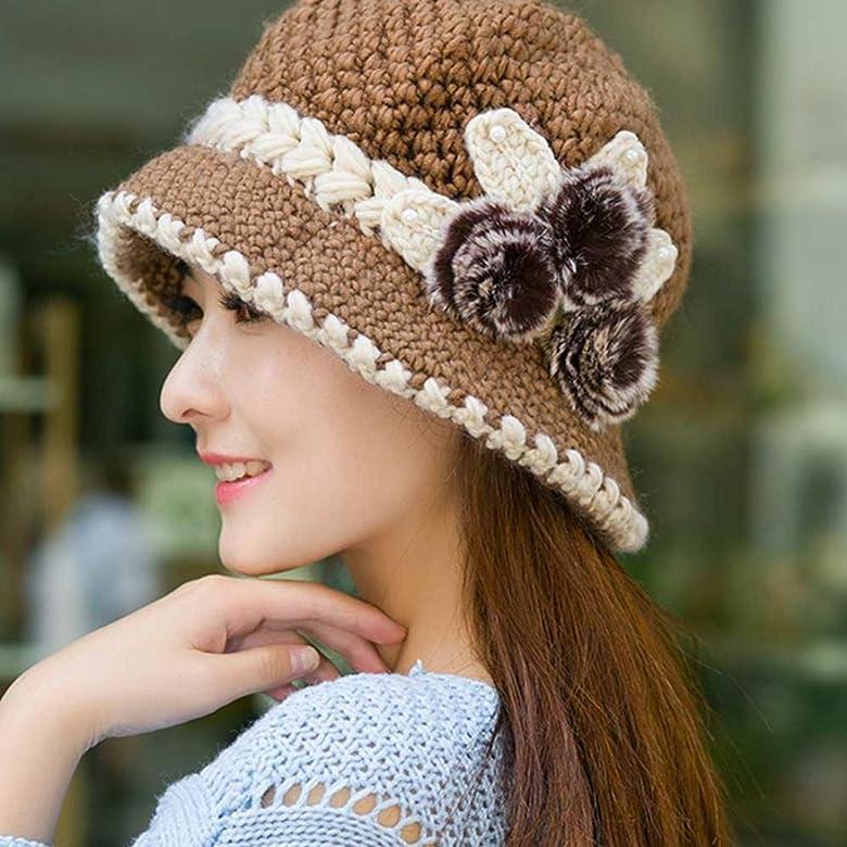 IMJONO Gorros Mujer Invierno Crochet Navidad Sombreros Vintage ...