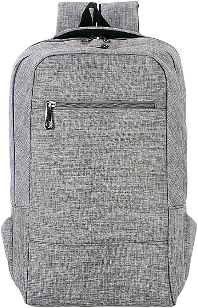ZENBEFE Linen Fabric Lightweight Travel College Backpack Fits up to 14 Inch Laptop Tablet
