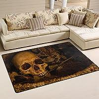 tapis salon tête de mort 10