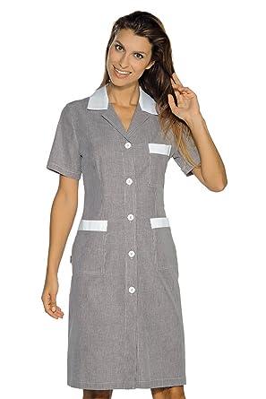Isacco-Bata De Trabajo Positano, diseño De Rayas, Color Negro, Color Blanco, 100% algodón: Amazon.es: Industria, empresas y ciencia