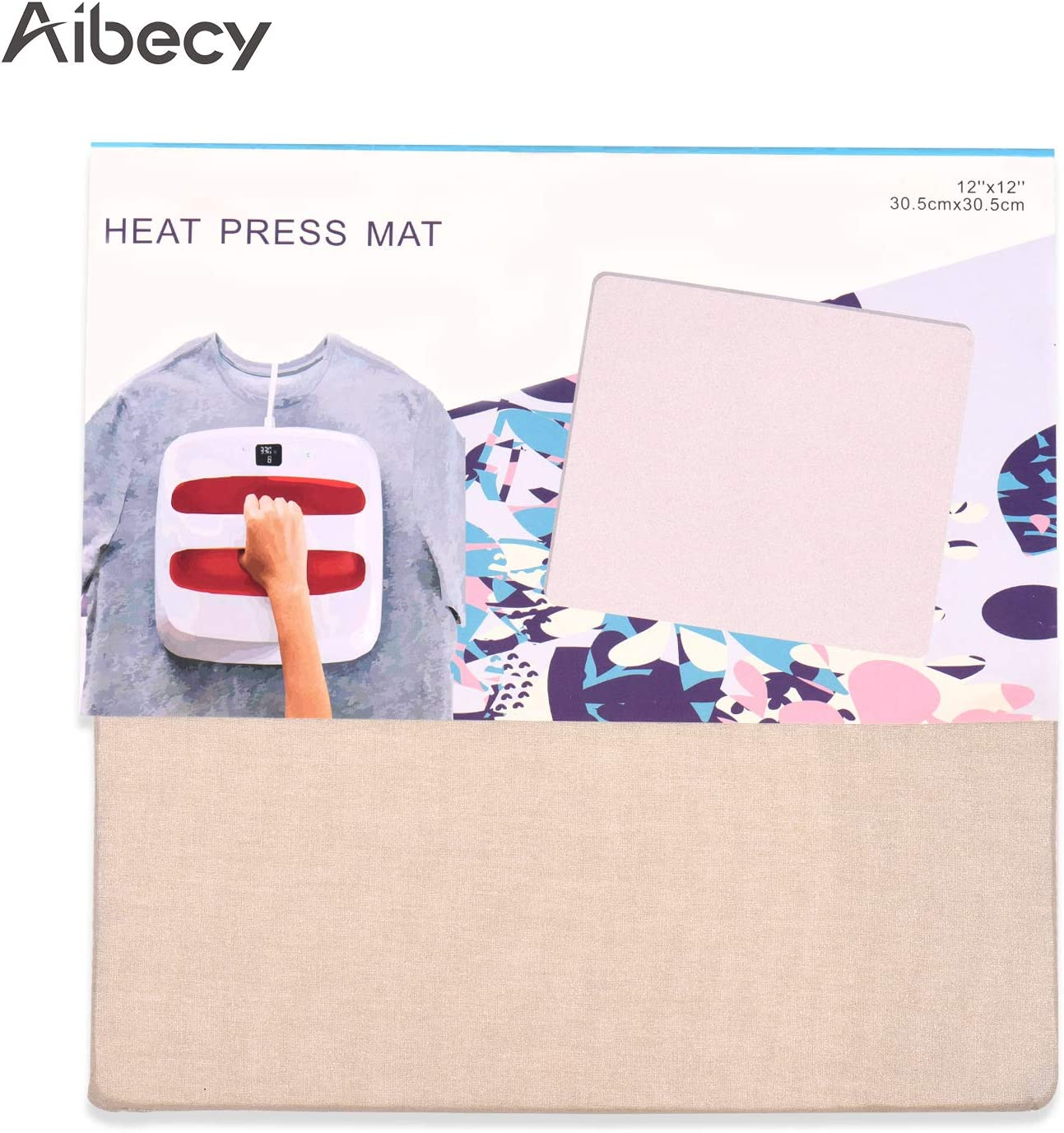 Heat Press Mat for Cricut Easypress Heat Both Sides Applicable 12x12 inch