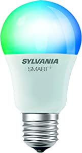 SYLVANIA SMART+ Bluetooth Full Color Light A19 LED Light Bulb, 60-Watt Equivalent, Works with Amazon Alexa, the Google Assistant, and Apple HomeKit, No Hub Required