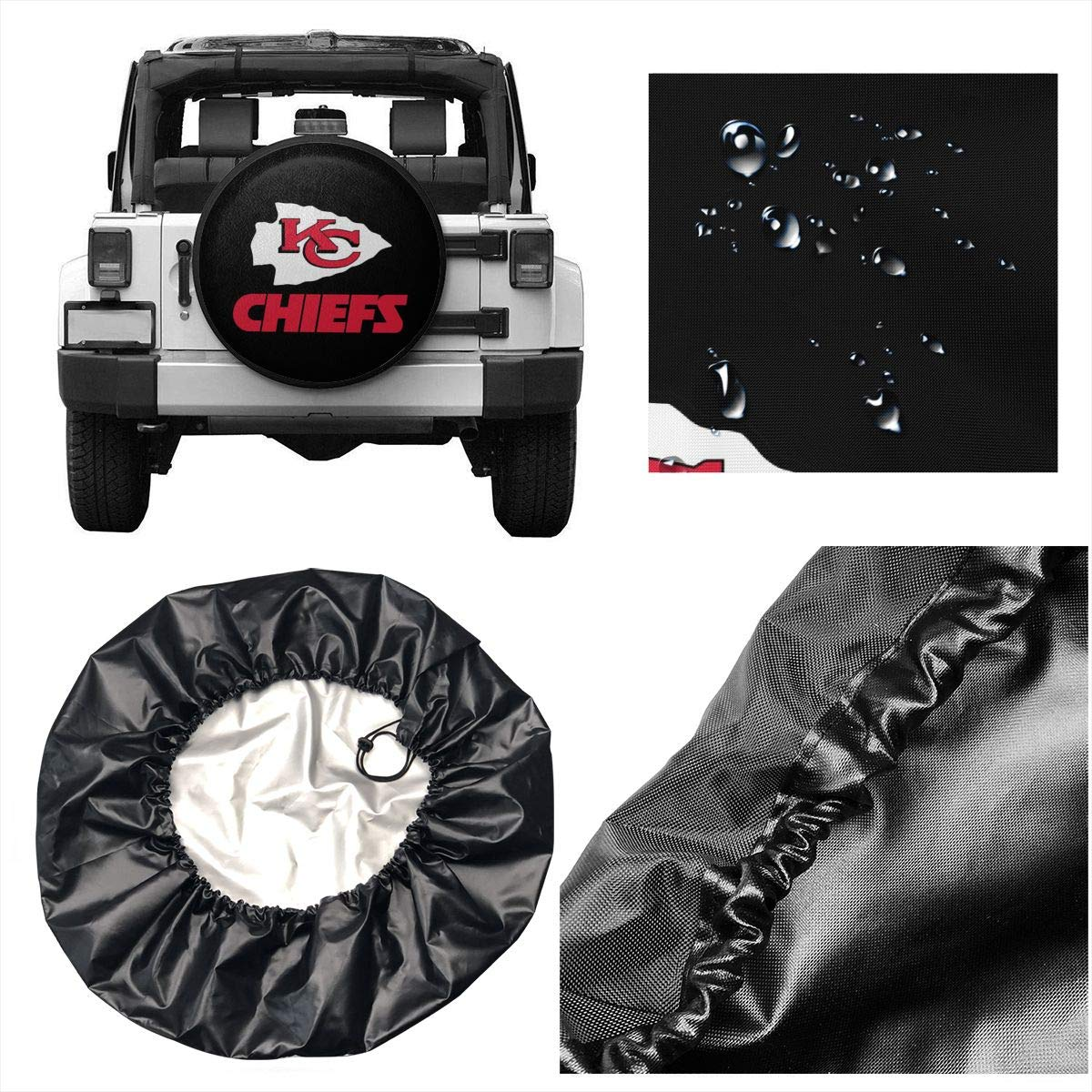 MamaTina Design Waterproof Tire Cover Washington Redskins American Football Team Unisex Spare Tire Cover for Jeep Trailer RV SUV and Many Vehicle