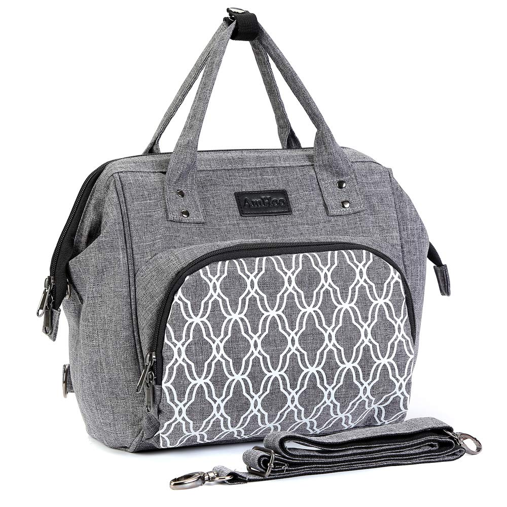 Lunch Box Insulated Lunch Bag Leak - proof 12 Cans Cooler Tote Bag - Best Double YKK Zippers - Waterproof Backpack - Multiple Pockets & Handles by AmHoo