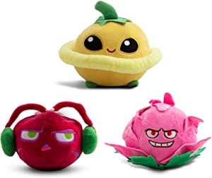 Maikerry 3 Pieces Plants vs. Zombies 1 2 Figure Plush Toy, PVZ Stuffed Doll Gifts for Kids and Birthday