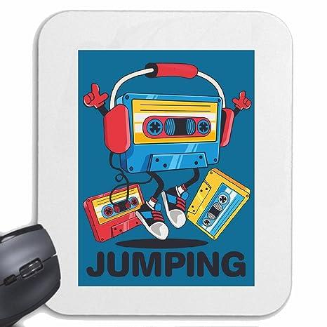 Mousepad alfombrilla de ratón SALTO casete de música GRABADORA retro auriculares TECHNO JAZZ DJ cobarde ALMA