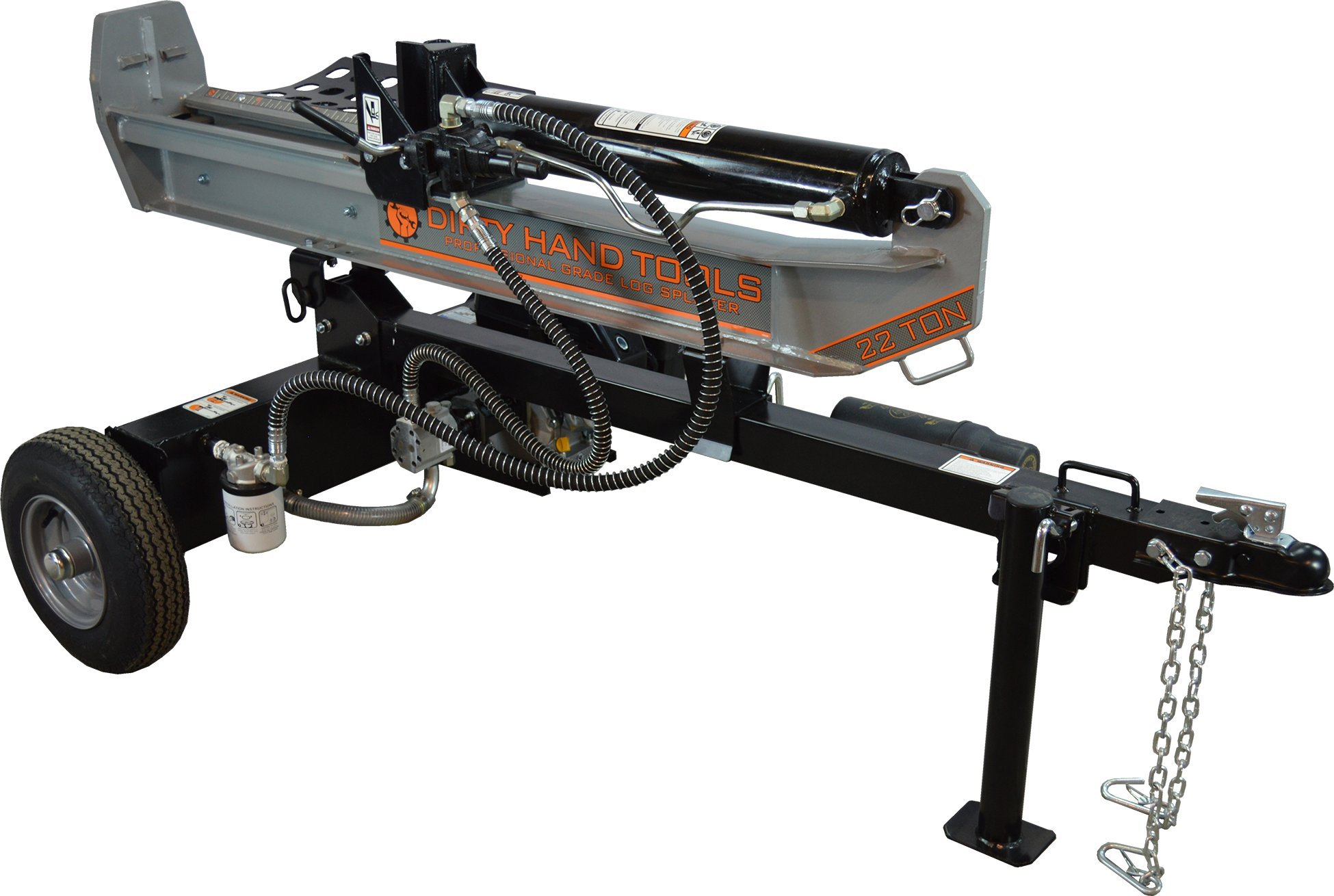 Dirty Hand Tools 100171, 22 Ton Horizontal/Vertical Gas Log Splitter, 196cc Kohler SH265 Engine