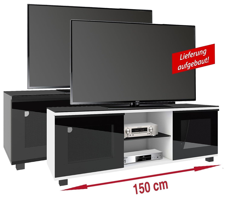 VCM Aufgebautes TV Lowboard Rack Fernsehschrank Tisch Möbel Schrank ...