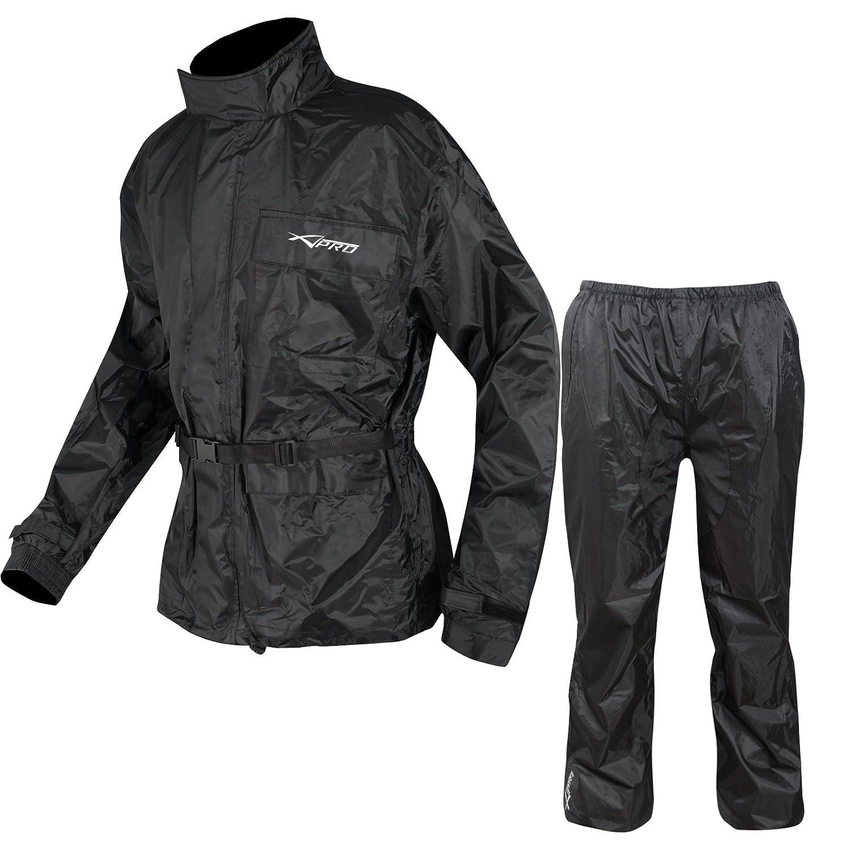 A-Pro Tuta Antipioggia impermeabile con 2 pezzi, giacca e pantaloni per Moto/Bici, 3XL 5180000044480