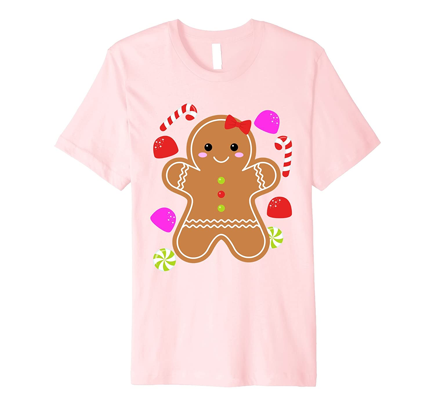 Adorable Christmas Pajama Cute Cookie Gift Shirt for Girls-FL