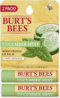 product image for Burt's Bees 100% natural moisturizing lip balm, cucumber mint with beeswax, 2 Count