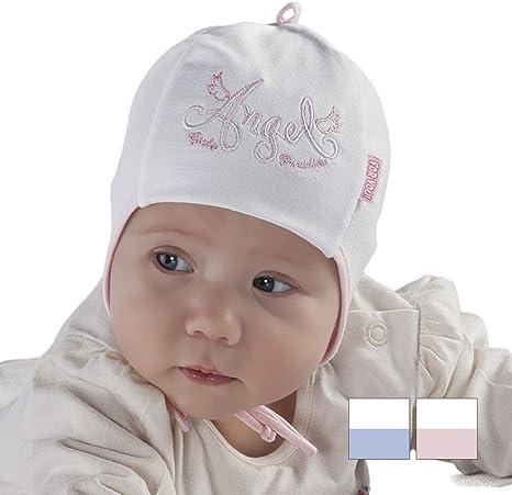 Nuevo bebé niña bebé niño recién nacido Unisex gorro 0 2 3 6 meses 100% algodón blanco blanco Talla:0-3 months 40cm: Amazon.es: Bebé